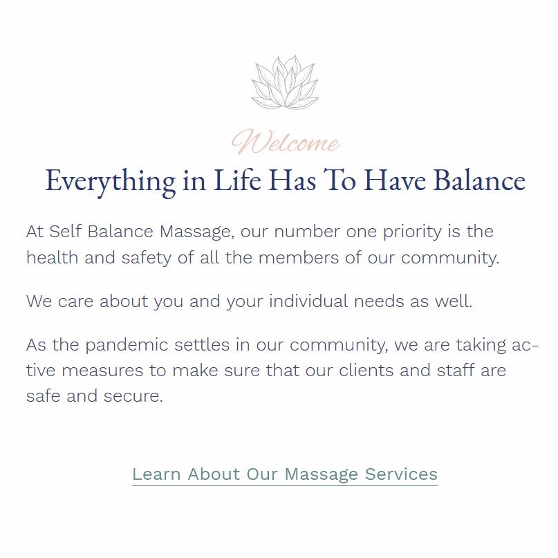 Self Balance Massage
